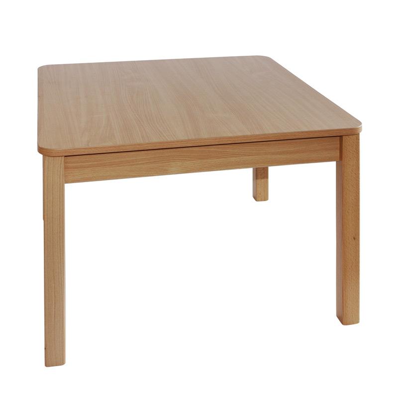 Stôl s masívnou podnožou 100x100 cm