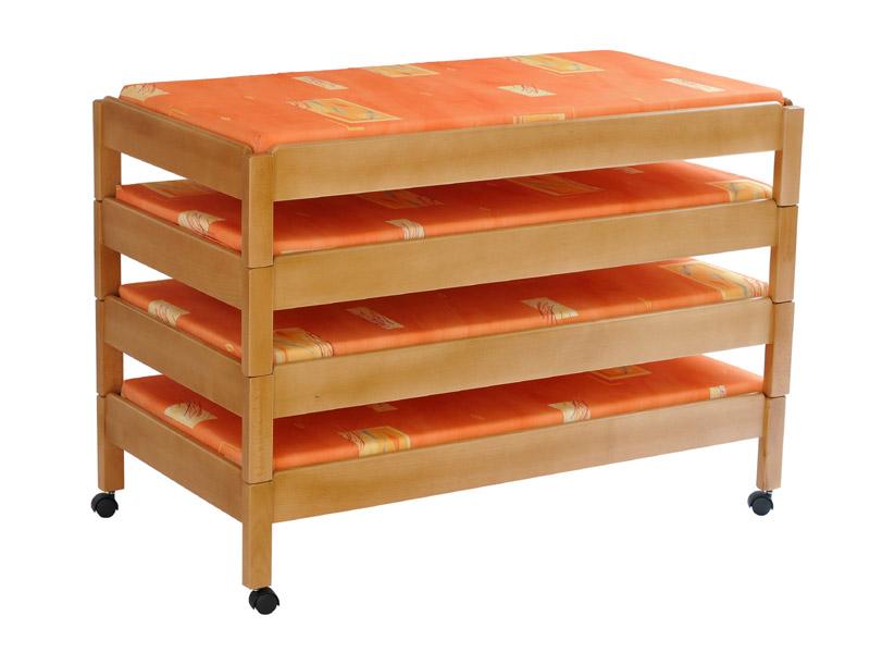 Stohovatelné ležadlo s 8 cm matracom